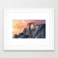 yosemite Framed Art Prints featuring Yosemite  by Francis Schmaltz