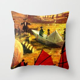 Canvas prints childrens bedrooms - Shangai Throw Pillow