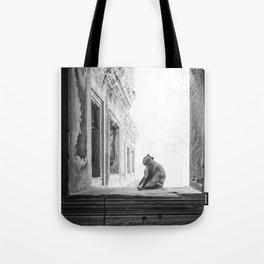 Sitting Monkey Tote Bag