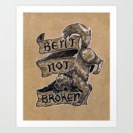 Bent Not Broken Art Print