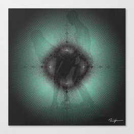 sustainable deep green Lovers Canvas Print