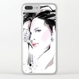 Fashion Painting #7 Clear iPhone Case
