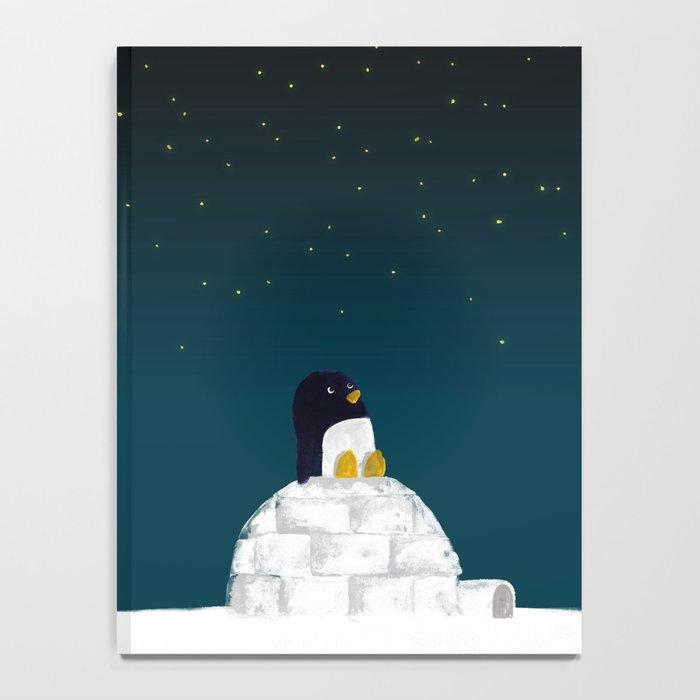 Star gazing - Penguin's dream of flying Notebook