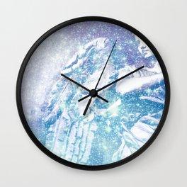 Celestial Guardian Angel Periwinkle Blue Wall Clock