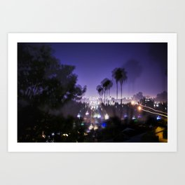Chasing Light in Los Angeles Art Print