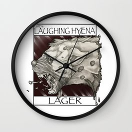 GMDs Laughing Hyena Lager Wall Clock