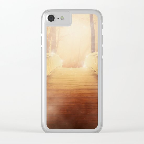bridge to the unknown Clear iPhone Case