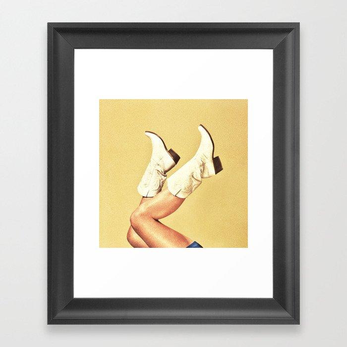 These Boots - Yellow Gerahmter Kunstdruck