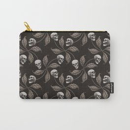 BLACK & GRAY CHERRY SKULL Carry-All Pouch