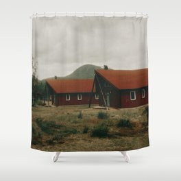Nikkaluokta Station  Shower Curtain