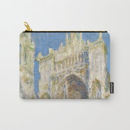 1894-Claude Monet-Rouen Cathedral, West Façade, Sunlight-65 x 100 Carry-All Pouch