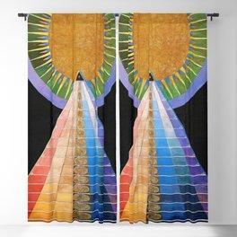 13,000px,600dpi-Hilma af Klint - Altarpiece - Digital Remastered Edition Blackout Curtain