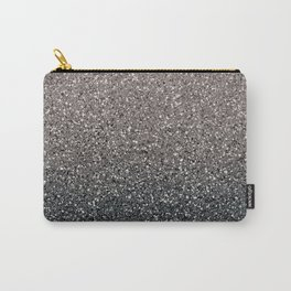 Black Ombre Glitter Carry-All Pouch