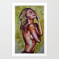 pain Art Prints featuring Pain by Artsy Kat