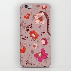large floral print - pinks iPhone & iPod Skin