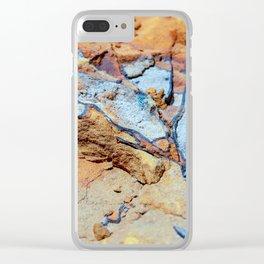 Rock stratum Clear iPhone Case