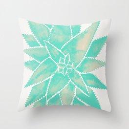 Aloe Vera – Mint Palette Throw Pillow