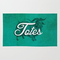 totes Area & Throw Rugs featuring Totes Ma-Goat by The Office Of Ordinary Things