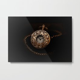 vintage clock_28 Metal Print