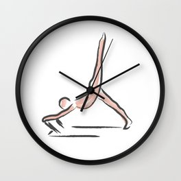 Pilates Pose Wall Clock