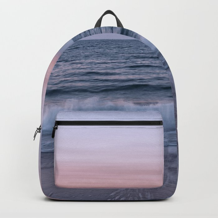 Pastel beach sunset Backpack