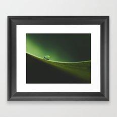 a drop on the edge Framed Art Print