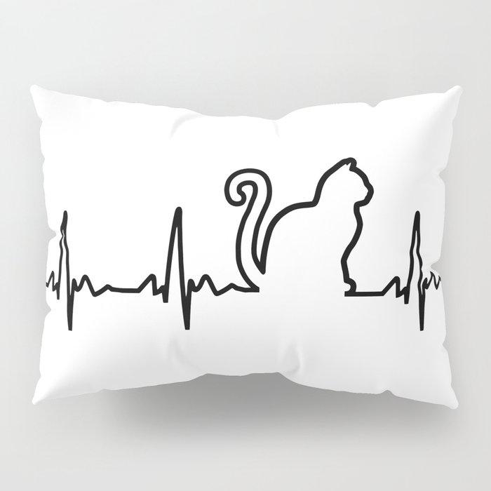 Cat Heartbeat Pillow Sham