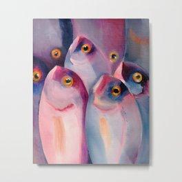 Violet Fish Metal Print