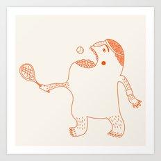 Game, Set and Munch Art Print