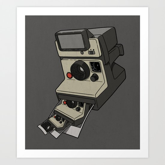 Cam-ception (continuous snapshot) Art Print