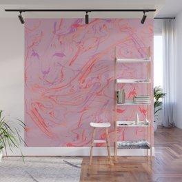 Adrift - Abstract Suminagashi Marble Series: 01 Wall Mural