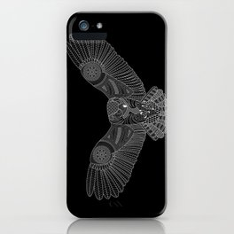 Coloring Book Owl Inverse iPhone Case