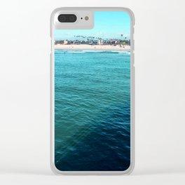 Seal Beach Pier Clear iPhone Case