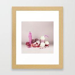Sweet pink doom - still life Framed Art Print