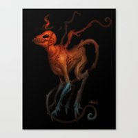 demon Canvas Prints featuring demon by Yoncho Yonchev