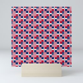 Mix of flag : usa and dominican republic Mini Art Print