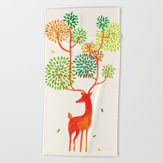 For the tree is the forest Beach Towel