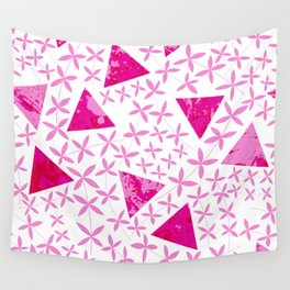 Shapes in Nature : Pink Wall Tapestry
