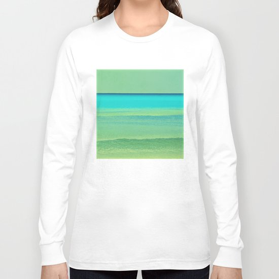 green and blue Long Sleeve T-shirt