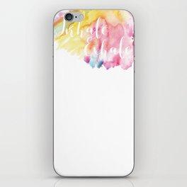 Inhale Exhale iPhone Skin