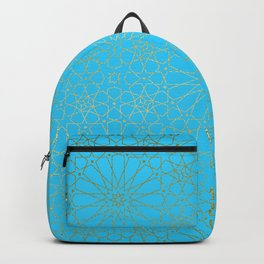 Moroccan Nights - Gold Teal Mandala Pattern - Mix & Match with Simplicity of Life Backpack