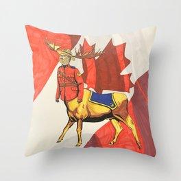 Mountie Moose Centaur Throw Pillow