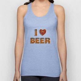 I Love Beer Unisex Tank Top