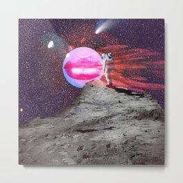 Astronaut kiss Metal Print