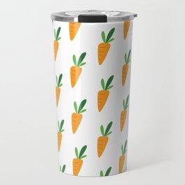 Carrot Pattern Travel Mug
