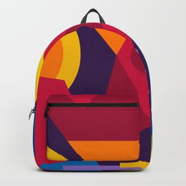Abstract modern geometric background. Composition 16 Backpack