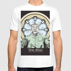 Total Recall - Arnold Schwarzenegger Flavour White Mens Fitted Tee MEDIUM
