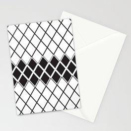 Rhombs Black and white pattern Stationery Cards