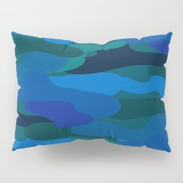 Camo-licious Collection: Blue Hawaiian Camouflage Pattern Pillow Sham