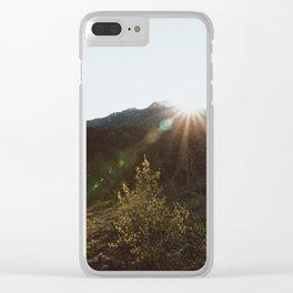 Sun dial Clear iPhone Case